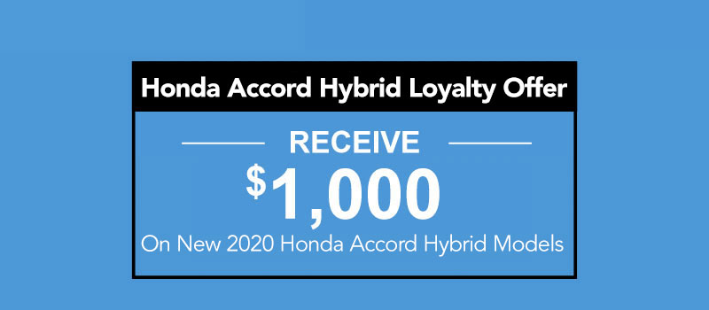 2020 Honda Accord Hybrid Loyalty Offer