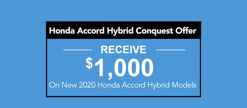 2020 Honda Accord Hybrid Conquest Offer