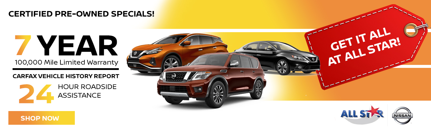 Nissan 7 Year Mile Warranty Special