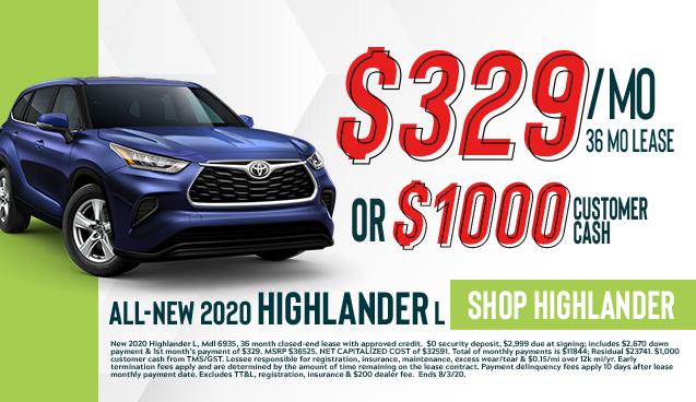 All-New 2020 Highlander L