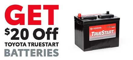 $20 Off Toyota TrueStart Batteries