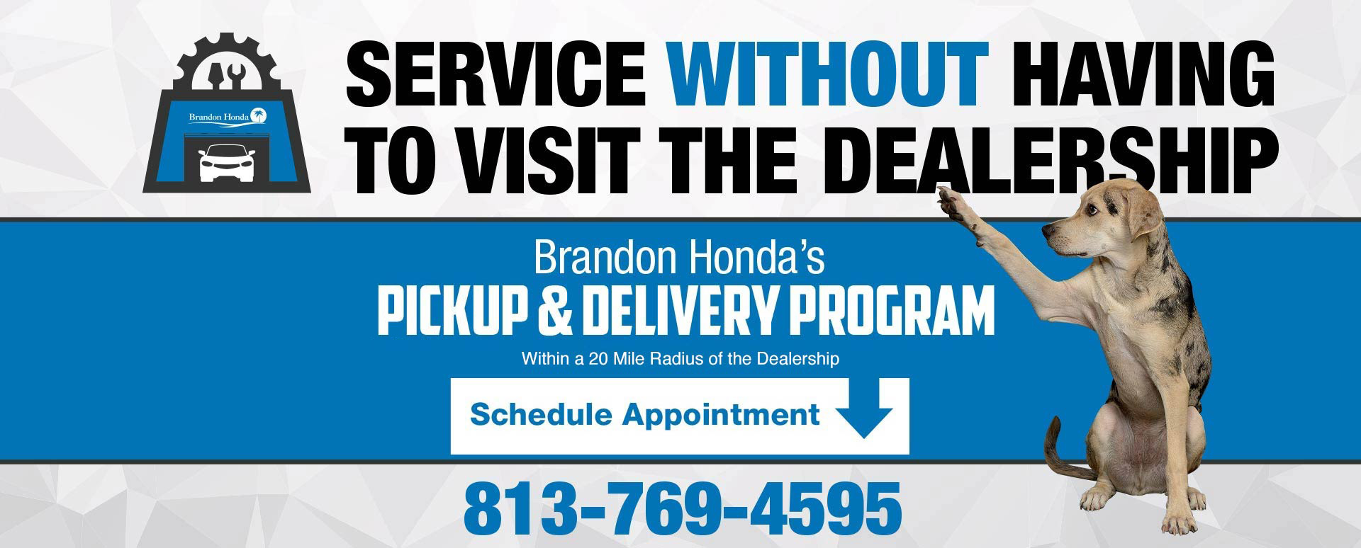 Service Pick-up and Delivery program without visiting the dealership