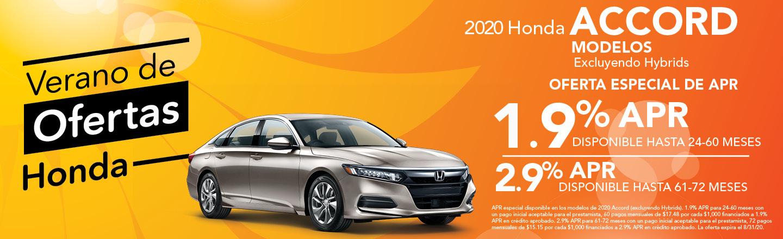 2020 Honda Accord Modelos