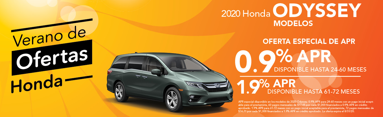 2020 Honda Odyssey Modelos