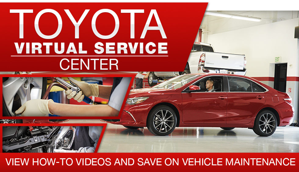 toyota virtual service center view how-to videos and save on vehicle maintenance