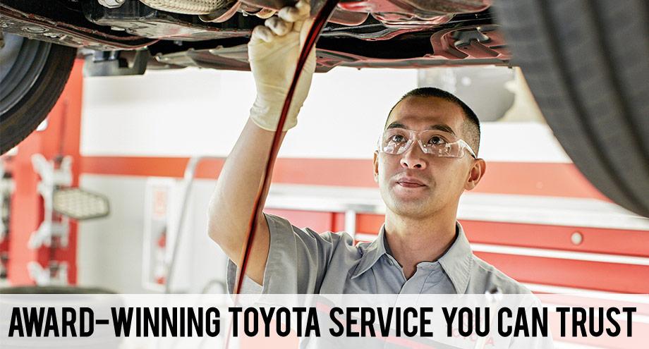 award winning toyota service you can trust