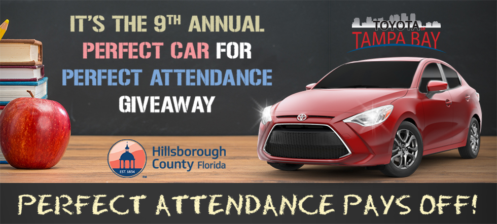 perfect car perfect attendance giveaway