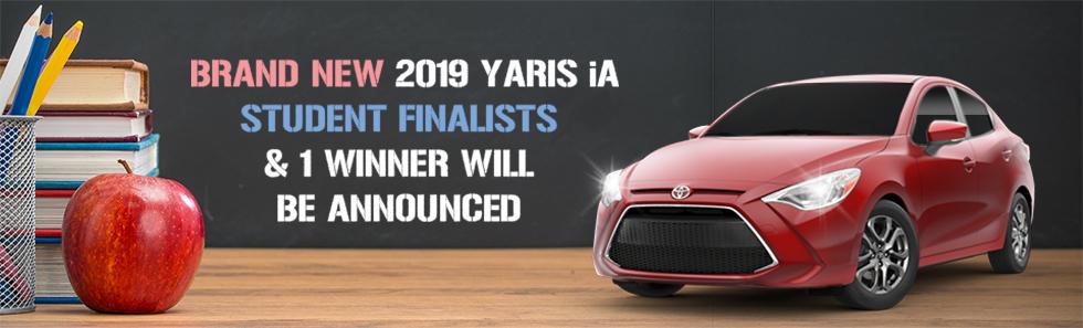 brand new 2019 yaris ia student finalists