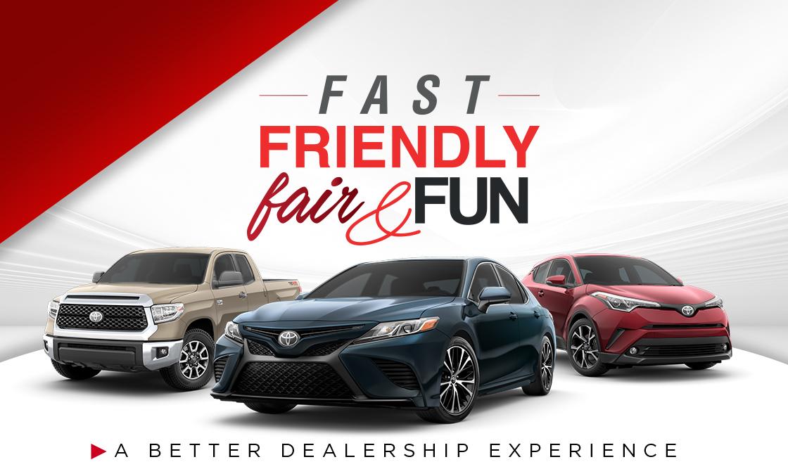 fast friendly fair and fun
