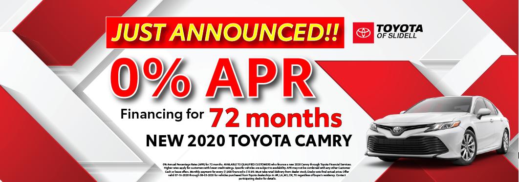 2020 Toyota Camry 0% APR