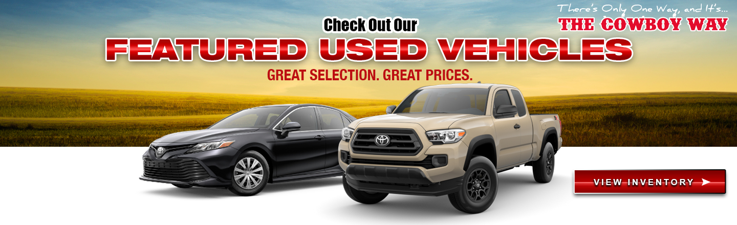 Cowboy Toyota Featured Used Vehicles