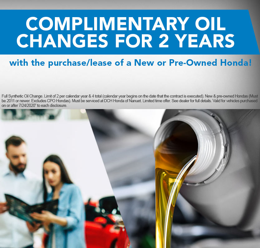 Complimentary Oil Change