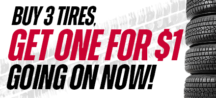 Buy 3 Tires, Get the 4th for $1 in Tomball, T