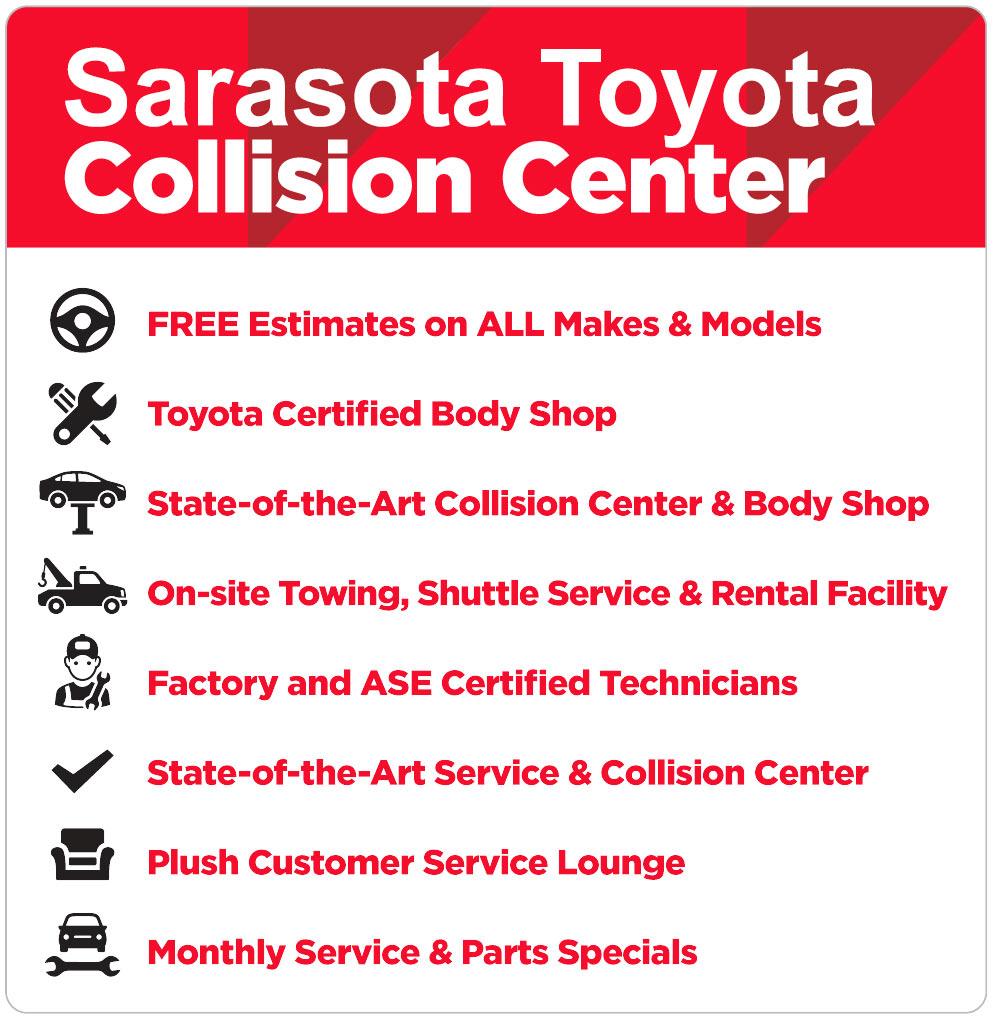 Collision Center in Sarasota, Florida, at Sarasota Toyota