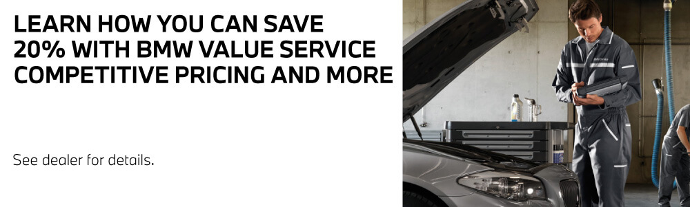 Save 20%  With BMW Value Service