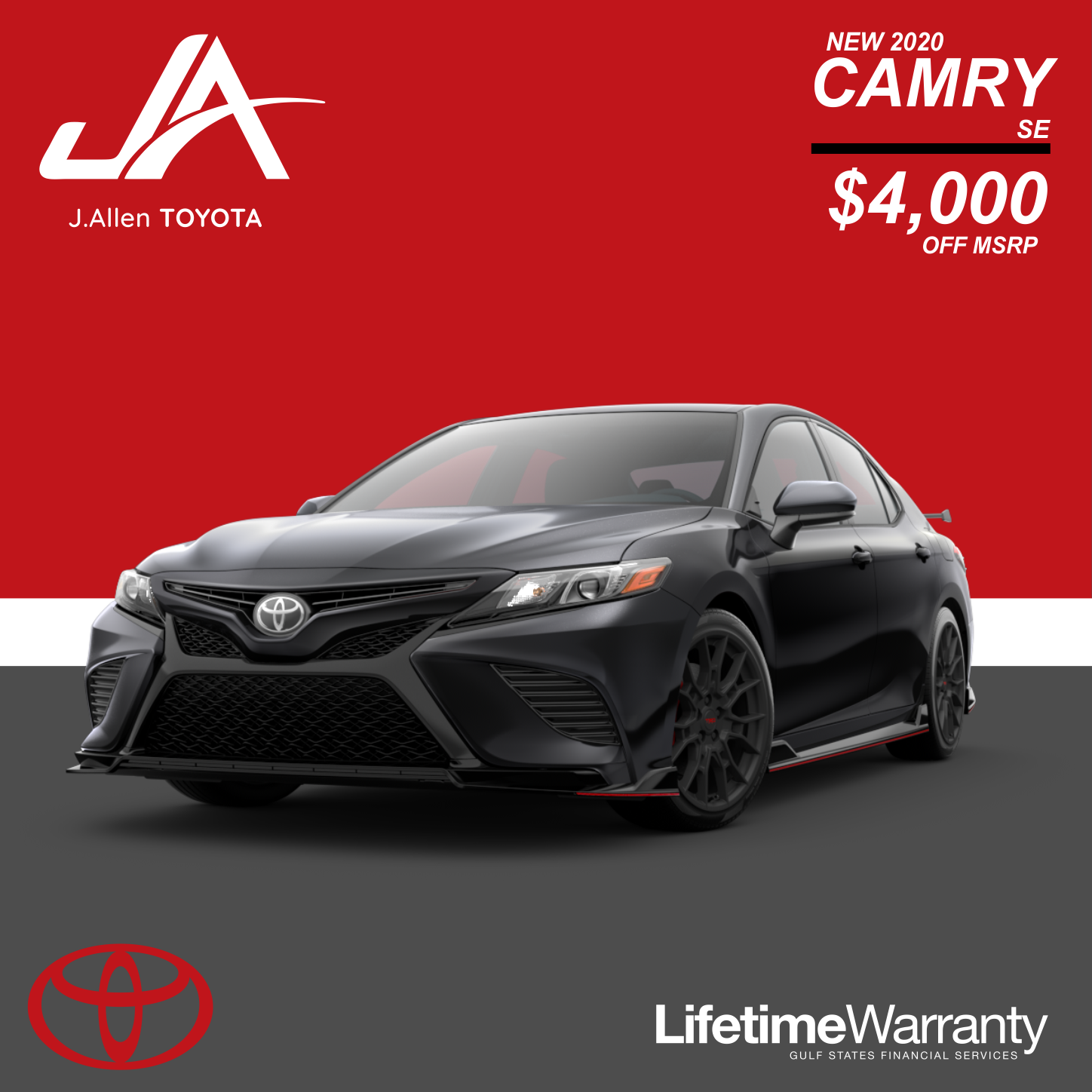 Save $$ on a new Camry