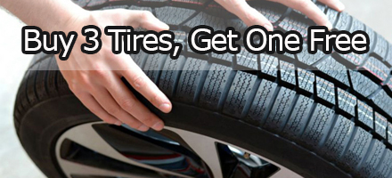 Buy 3 Tires - Get One Free