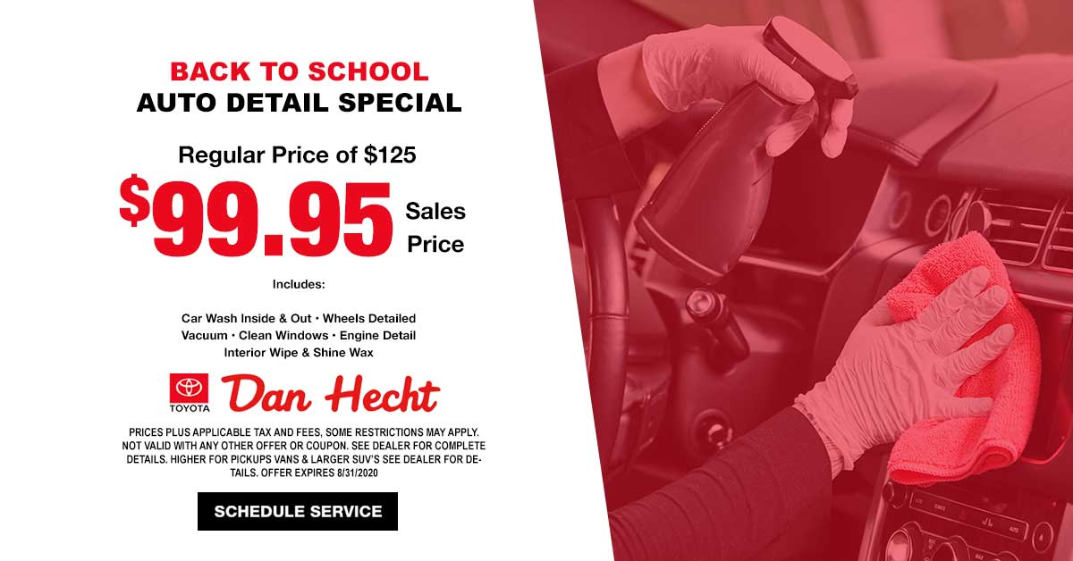 Back To School Auto Detail Special