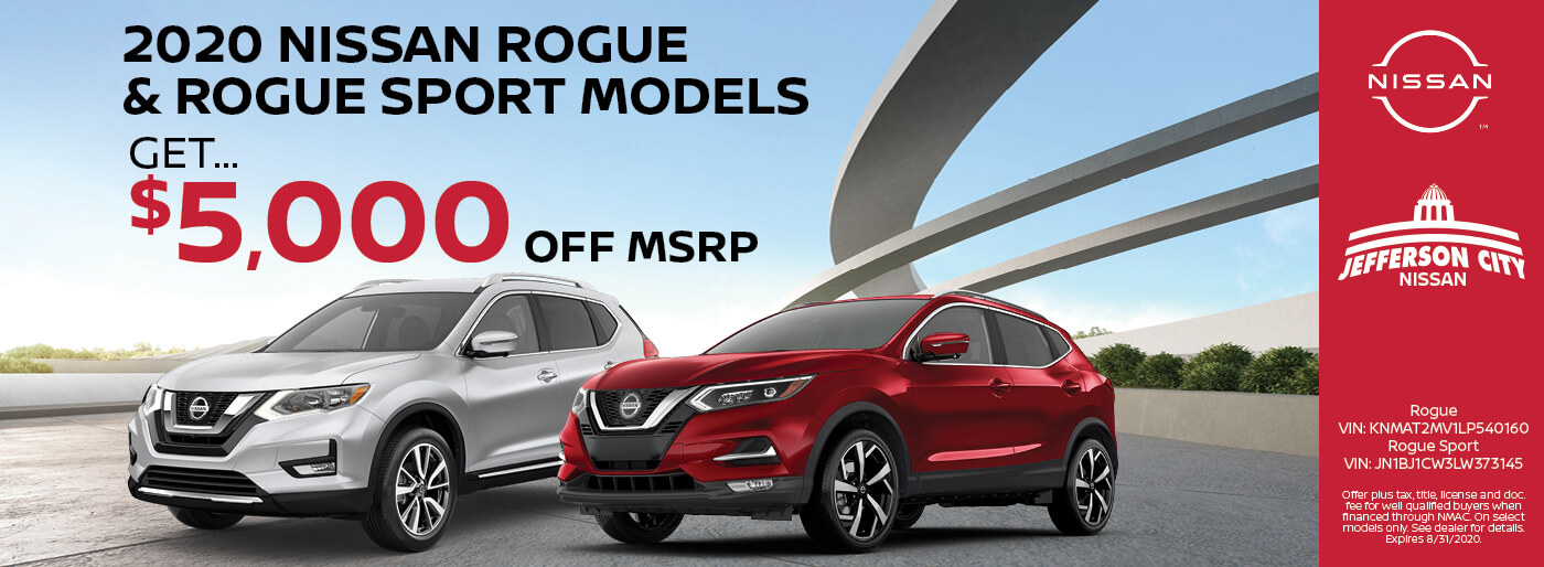 2020 Nissan Rogue & Rogue Sport, $5,000 off MSRP | Jefferson City, MO