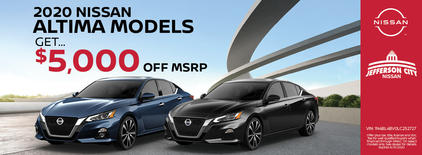 2020 Nissan Altima, $5,000 off MSRP, Jefferson City, MO