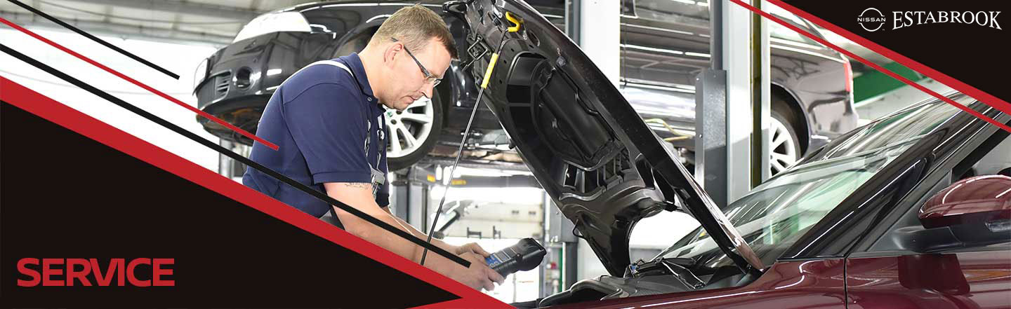 Service Department at Estabrook Nissan, in Pascagoula, MS