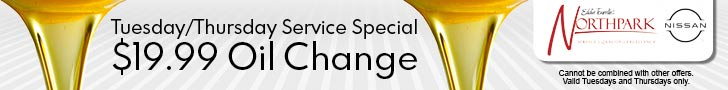 Tuesday and Thursday Service Specials at Northpark Nissan