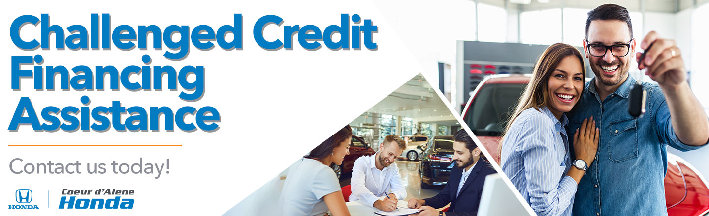 Challenged Credit Financing Assistance For Coeur d'Alene, ID and Spokane, WA, Area Car Buyers