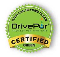 your car beyond clean drivepure certified green emblem