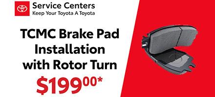 TCMC Brake Pad Installation