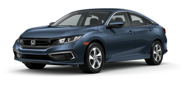 cosmic blue Honda Civic