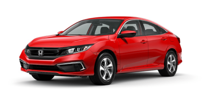 rallye red Honda Civic