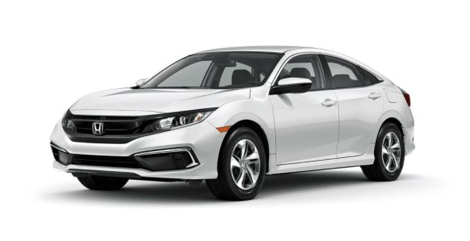 platinum white pearl Honda Civic