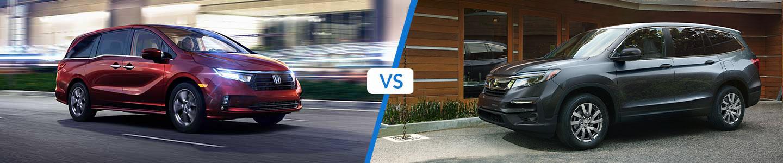 Honda Odyssey Minivan versus the Honda Pilot SUV