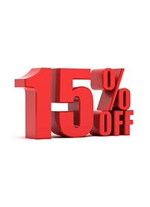 15% Off Special