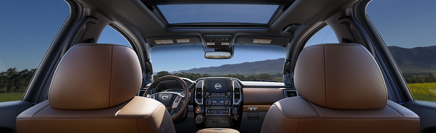 View the interior of the new 2021 Nissan Titan