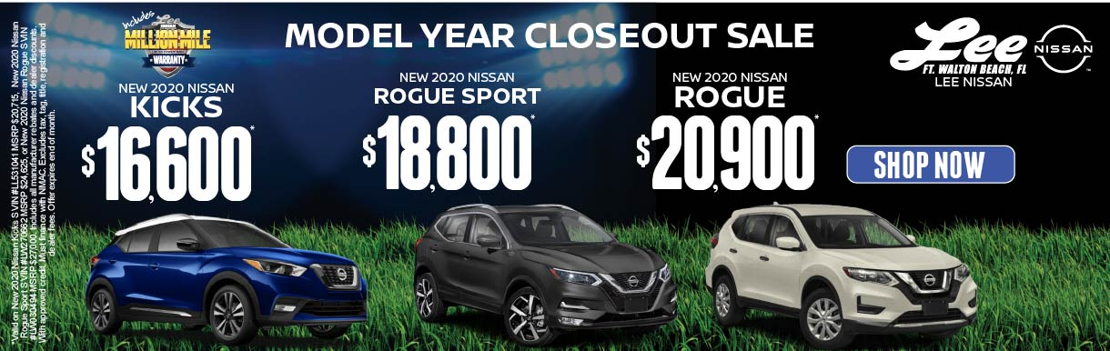 Kicks, Rogue Sport, and Rogue Special Offers.