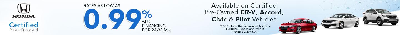 Honda CPO banner