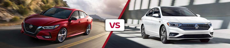 Compare the 2020 Nissan Sentra and 2020 Volkswagen Jetta in Metairie, LA