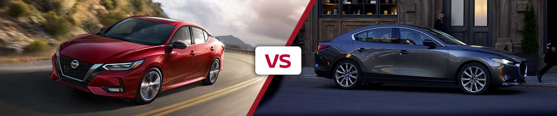 Compare the 2020 Nissan Sentra and 2020 Mazda 3 in Metairie, LA