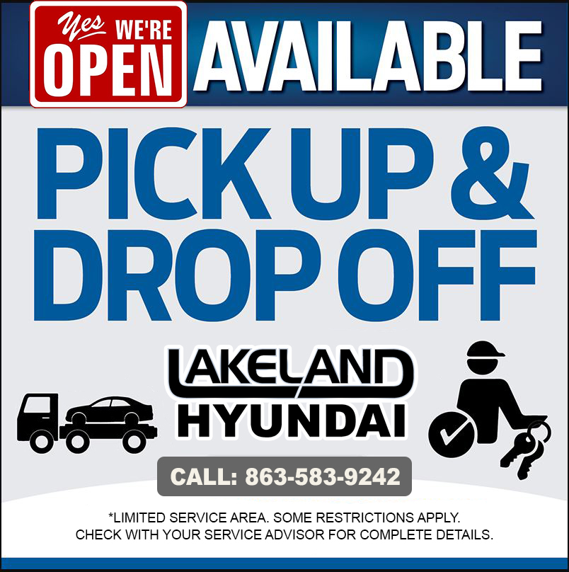 Lakeland Hyundai Pick-Up & Delivery Service 863-583-9242