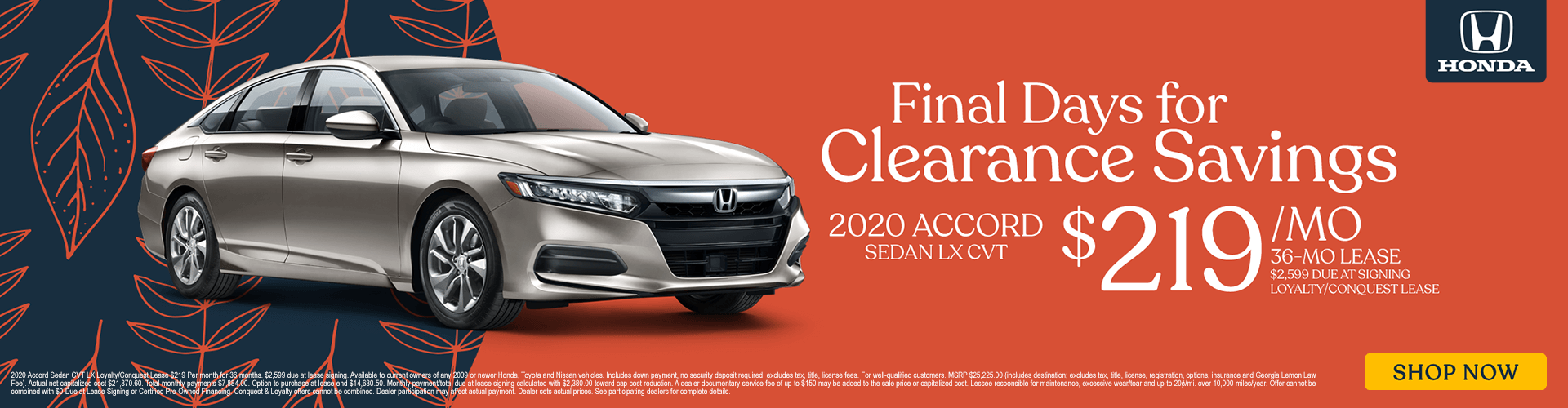 2020 Accord Lease Special