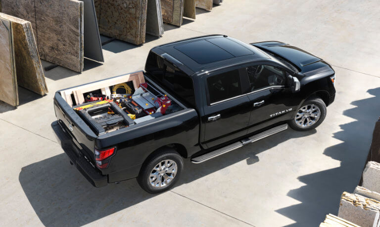 2020 Nissan Titan exterior at worksite