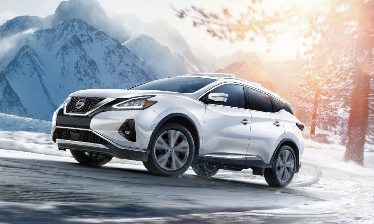 2020 Nissan Murano exterior in snow