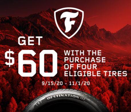 Get $60 Back from Firestone