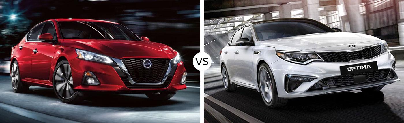 Mid-Size Sedan Comparison: 2020 Nissan Altima Vs. 2020 Kia Optima