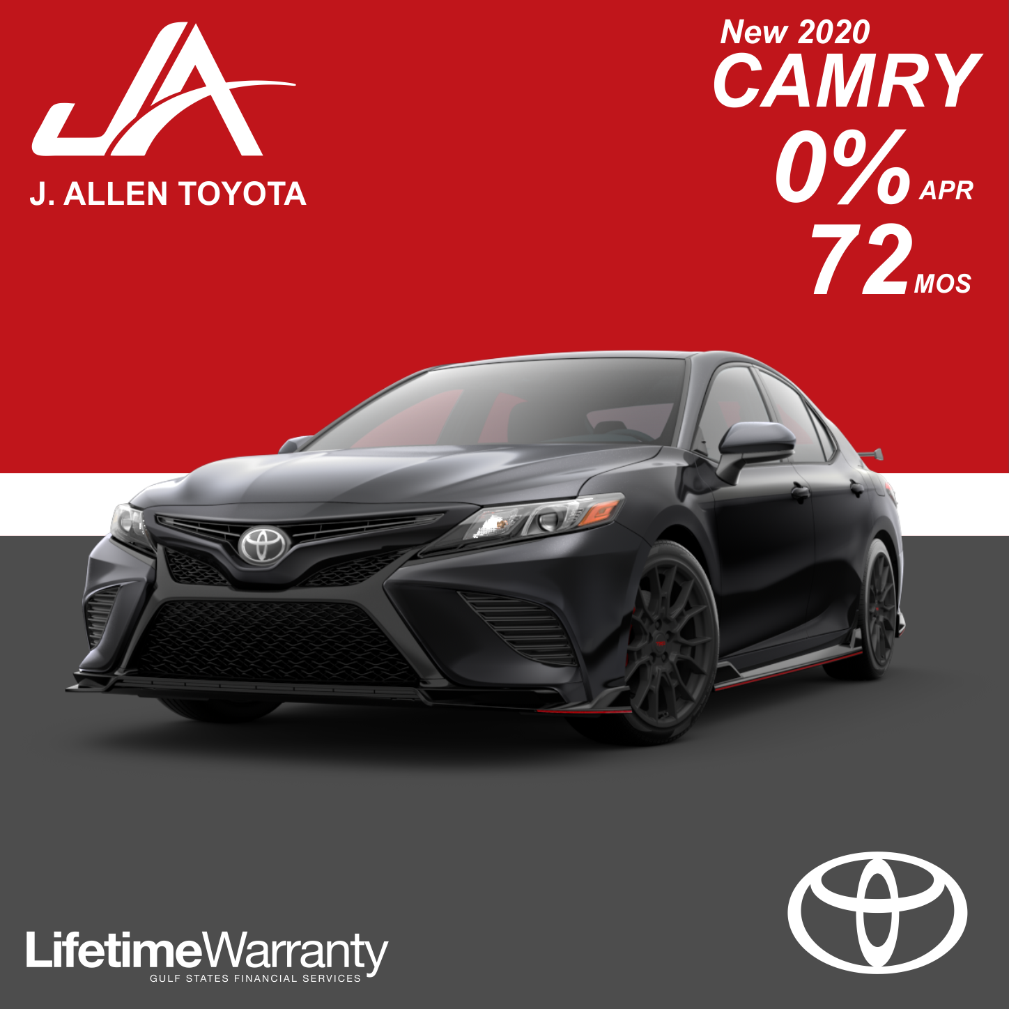 New 2020 Camry Financing Special