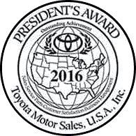 Family Toyota of Burleson 2016 President's Award Badge