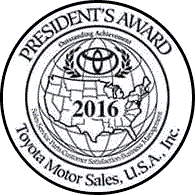 Family Toyota of Arlington 2016 President's Award Badge