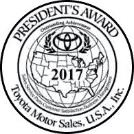 Family Toyota of Arlington 2017 President's Award Badge