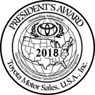 Family Toyota of Arlington 2018 President's Award Badge